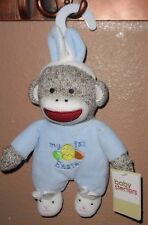 BABY STARTER'S  MY FIRST EASTER MONKEY RATTLE PLUSH BABY TOY NEW! BLUE BOY!