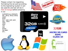 32GB MICRO SD CARD SDHC Class 10 U1 V10 Select Samsung Galaxy Note 8 Ultra Speed