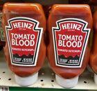 2x Heinz Tomato Ketchup Halloween Tomato Blood 57 Blood Types 20oz Exp. 12/08/22