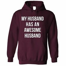 Joke Couples Hoodie My Husband Has An Awesome Husband Cute Gay Valentines