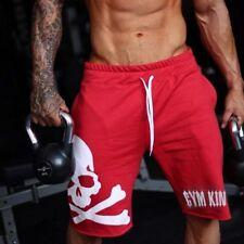 Short Pants Gym Cotton Skull Men Trousers Sports Workout
