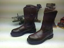 MADE IN USA RED WING BROWN LEATHER STEEL TOE ENGINEER WORK FARM 10EE BOOTS