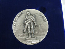 Israel 1995 Liberation /Freedom by Rapoport State Medal 59mm 180g Silver+box+COA
