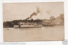 Southport Me 1914 Real Photo Postcard Steamship