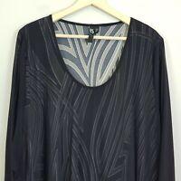 [ TS TAKING SHAPE ] Womens Long sleeves Mesh Overlay Top  | M or AU 18 / US 14