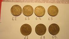 pièces de monnaies françaises 20 Centimes