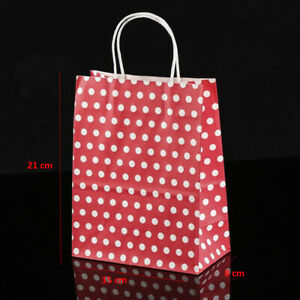 Kraft Paper Gift Bags and Cupcake Liners w/ Polka Dots in a Variety of Colors