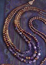 JAY STRONGWATER Necklace Amethyst Pearls & Swarovski Crystal NEIMAN MARCUS R$495