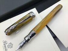Pineider La Grande Bellezza Tigerseye Yellow Fountain 14k F Stationary Set $419