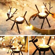 New ListingVintage Reindeer Tealight Candle Holders Iron Rustic Christmas Decorations New