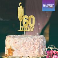 Personalised GLITTER cake topper/ custom prosecco /Anniversary/Wedding/Birthday-