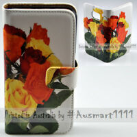 For Sony Xperia Series - Multi Roses Theme Print Wallet Mobile Phone Case Cover