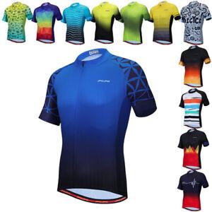 Men Cycling Jersey Short Sleeve MTB Bicycle Clothing Bike Shirt Quick-Dry Tops