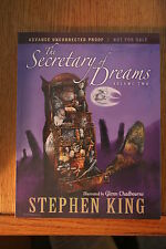 STEPHEN KING SECRETARY OF DREAMS VOL 2 ADVANCE UNCORRECTED PROOF BOUND & LOOSE