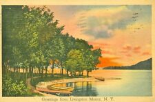 Livingston Manor, NY A 1940 Sunset Greetings from Livingston Manor