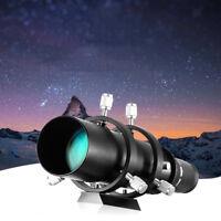50mm CCD Imaging Guide Scope Finderscope + Bracket for Astro Telescope Black