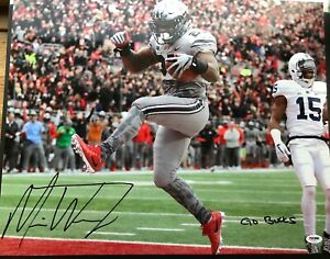 Mike Weber Signed 16x20 Ohio State Buckeyes Football Autograph PSA/DNA