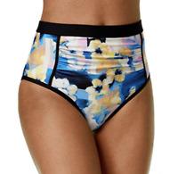 Calvin Klein Geometric & Floral High Waist Bikini Bottom Size XS S M L CK33