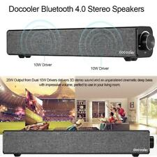 20W Wireless Bluetooth Sound Bar Soundbar Speaker Subwoofer Home TV Theater AU