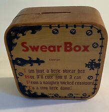 Vintage Wood Swear Box With Scale Of Charges Oliver K Whiting Of London