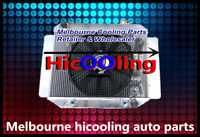 Aluminum Radiator + one fan for TORANA LJ LH LX UC 4CYL&6CYL 1969-1978 AT MT
