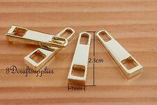 #3 zipper pull zinc zipper puller Standard style light gold 2.3cm x 0.7cm H78