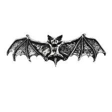 Alchemy Gothic Darkling Bat Wings Gothic Pewter Hair Clip Slide Accessory