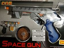 "SPACE GUN LIGHT & SOUND SUPERIOR LIGHT UP 3+ AGES USE 3 ""AA"" CAN BE BLUE COLOR"