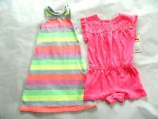 Girls Circo Racerback Long Dress & Nwt Cherokee Pink Romper Size 12M Lot of 2