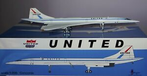 Inflight 200 IFCONC1016 Concorde United Airlines N557UA with a Stand in 1:200