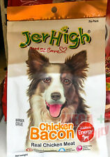 JerHigh Chicken in Bacon Shape Dog Puppy Treats Food Snack Energy Health Bone