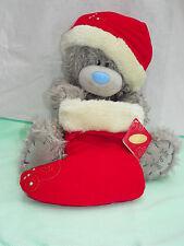 Me To You peluche ours 28 cm assis * BOTTE NOEL * bonnet et botte rouges Noël