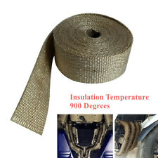 15M Motorcycle Exhaust 900° Insulation Glass Fiber Tape Wrap Thermal Strip Great