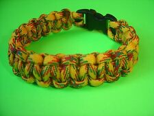 "550 ParaCord Survival Cobra Braided Bracelet - Rasta Colored - Fits 7 1/2"" Wrist"