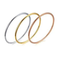 Classic 3mm Thin Bracelet Cuff Bangles Charm Stainless Steel Simple Jewelry Gift