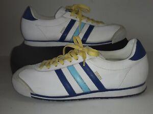The Life Aquatic Team Zissou Adidas Rom Shoes Men's Size 10 Blue/White/Yellow