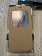 Samsung Galaxy S6 S-View Flip Cover case Tan OEM Samsung Brand NEW in Box