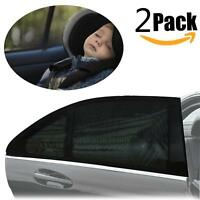 2pcs Car Rear Window UV Sun Sunshine Blocker Cover Seat Shade Mesh Blind UK BW
