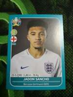 ⚽JADON SANCHO⚽ ENGLAND ROOKIE Sticker RC # ENG 27⚽ 2020 PANINI EURO CUP PREVIEW