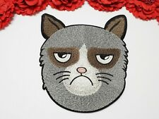 Grumpy Cat patch, Fashion patch, Large patch, Iron on