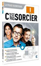 """26263//DVD C'EST PAS SORCIER - LA POLICE SCIENTIFIQUE NEUF MAIS DEBALLE 4 X 26"""""""