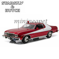 GREENLIGHT 19023 STARSKY AND HUTCH 1976 FORD GRAN TORINO 1/18 RED CHROME EDITION