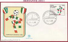 ITALIA FDC FILAGRANO COPPA DEL MONDO CALCIO MONDIALI ITALIA '90 1988 TORINO Z551