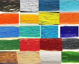 11/0 Glass Seed Beads Czech Jablonex Full Hank approx 4,920 beads Beads per hank