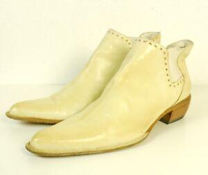 STRENESSE Stiefeletten Ankle Boots Spitz Creme Weiß Beige Gr. EUR 36