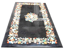 Black Marble Dining Table Top & FREE Coffee Table Top Inlay Carnelian Stone Arts