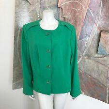 Lane Bryant Green Blazer Jacket (RQ) SZ 20 Office Careerwear Spring Womens