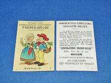CHROMO CHOCOLATERIE FRANCO-BELGE HALLUIN NORD COSTUMES FRANCE ARTOIS