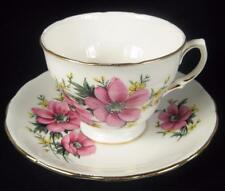Royal Osborne Pink Anemone Flowers Fine Bone Chine Cup & Saucer