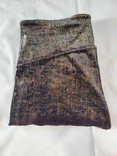 Spanx Womens Leggings Size M Black and Gold Metallic Velvet Cozy Activewear